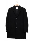 ()の古着「メリノメルトンチェスターコート」|ブラック
