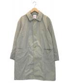 DANTON(ダントン)の古着「ステンカラーライトコート」|カーキ