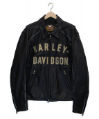HARLEY-DAVIDSON(ハーレーダビットソン)の古着「アニバーサリーレザージャケット」|ブラック