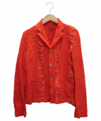 robe de chambre COMME des GARCONS(ローブドシャンブルコムデギャルソン)の古着「デザインジャケット」|オレンジ
