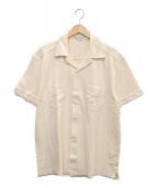 RRL(ダブルアールエル)の古着「ヘリンボンオープンカラーS/Sシャツ」 ベージュ