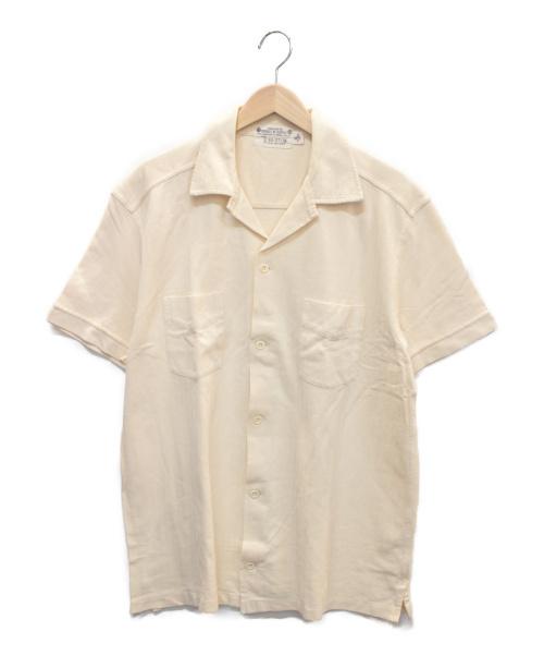RRL(ダブルアールエル)RRL (ダブルアールエル) ヘリンボンオープンカラーS/Sシャツ ベージュ サイズ:Mの古着・服飾アイテム