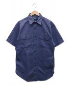 ()の古着「ミリタリーS/Sシャツ」 ブルー