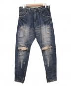 JULIUS(ユリウス)の古着「Rider Pants」 インディゴ