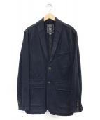 ()の古着「スウェットテーラードジャケット」|ネイビー