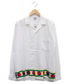 ()の古着「オープンカラー刺繍シャツ」|ホワイト