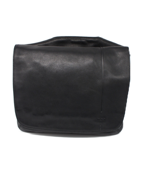 TUMI(トゥミ)TUMI (トゥミ) レザーショルダーバッグ ブラック サイズ:下記参照 6923Dの古着・服飾アイテム
