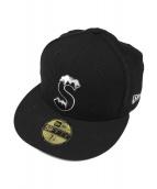 SUPREME×NEWERA(シュプリーム×ニューエラ)の古着「S LOGO CAP」|ブラック