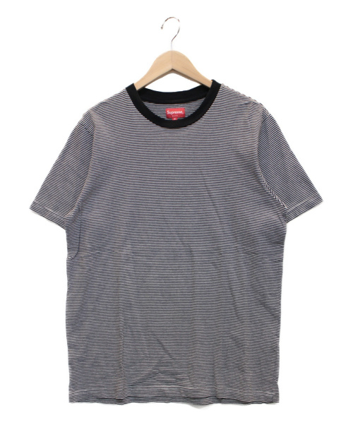 SUPREME(シュプリーム)Supreme (シュプリーム) Micro Stripe Tee ホワイト×ブラック サイズ:Mの古着・服飾アイテム