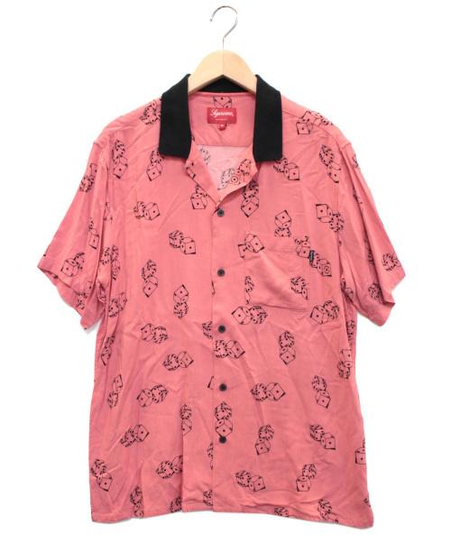 SUPREME(シュプリーム)Supreme (シュプリーム) Dice Rayon S/S Shirt ピンク サイズ:Mの古着・服飾アイテム