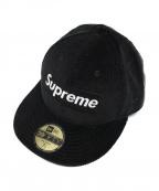 SUPREME×NEWERA(シュプリーム×ニューエラ)の古着「コーデュロイキャップ」|ブラック