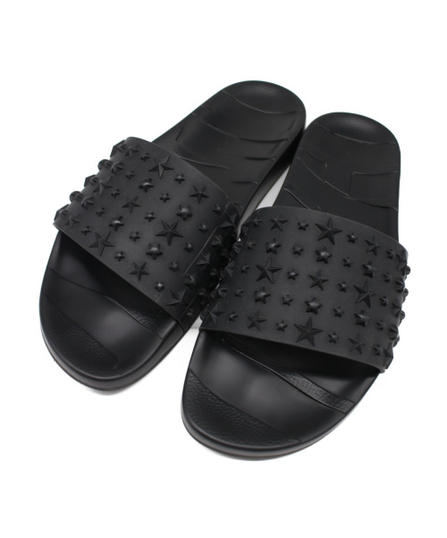 JIMMY CHOO(ジミーチュウ)JIMMY CHOO (ジミーチュウ) ラバーサンダル ブラック サイズ:42の古着・服飾アイテム