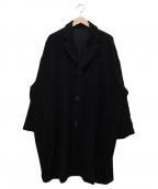 CASEY CASEY(ケイシーケイシー)の古着「カシミヤフレアコート」 ブラック