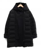 YOSOOU(ヨソオウ)の古着「フェイクムートンロングダウンコート」|ブラック