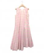maturely(マチュアリー)の古着「Vichy Dress」|ベージュ×ピンク