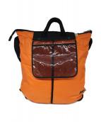()の古着「ヘルメットバッグ」|オレンジ×ブラック