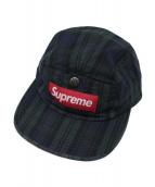 Supreme(シュプリーム)の古着「Snap Button Pocket Camp Cap Bo」|グリーン×ネイビー