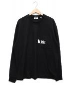 KITH(キス)の古着「ポケットロゴL/STシャツ」|ブラック