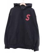 ()の古着「S Logo Hooded Sweatshirt」|ネイビー