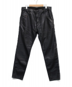 ()の古着「テーパードデニムパンツ」|ブラック