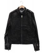 ()の古着「コーティングデニムジャケット」|ブラック