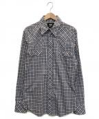 D&G(ドルチェ&ガッバーナ)の古着「ウェスタンデザインチェックシャツ」|ブルー×レッド