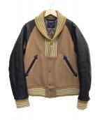 MIHARA YASUHIRO(ミハラヤスヒロ)の古着「スタジャン」|ブラック×ブラウン