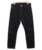 RRL(ダブルアールエル)の古着「ブラックデニムパンツ」|ブラック