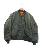 ()の古着「リバーシブルフライトジャケット」|オリーブ