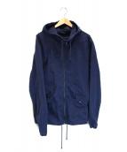 Denham(デンハム)の古着「フーデッドコート」 ネイビー