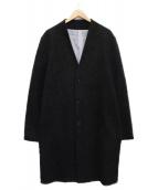 SHIPS JET BLUE(シップスジェットブルー)の古着「ノーカラーチェスターコート」|グレー