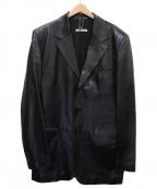 Yves Saint Laurent Rive Gauche(イヴ・サンローラン リヴ・ゴーシュ)の古着「レザーテーラードジャケット」|ブラック