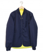 LACOSTE()の古着「Quilted Reversible Rain Jacket」|ネイビー×イエロー