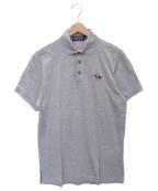 RALPH LAUREN PurpleLabel(ラルフローレン パープルレーベル)の古着「ワンポイントポロシャツ」|グレー