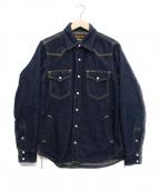 IRON HEART(アイアンハート)の古着「裏ブランケットデニムウェスタンシャツ」 インディゴ