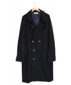 ()の古着「メルトンオーバーダブルチェスターコート」|ブラック