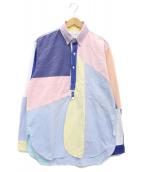 ()の古着「再構築オックスフォードシャツ」|マルチカラー