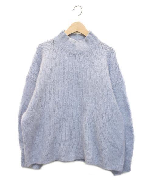 3.1 phillip lim(スリーワンフィリップリム)3.1 phillip lim (スリーワンフィリップリム) ロングスリーブドロップショルダーニット ブルー サイズ:XSの古着・服飾アイテム
