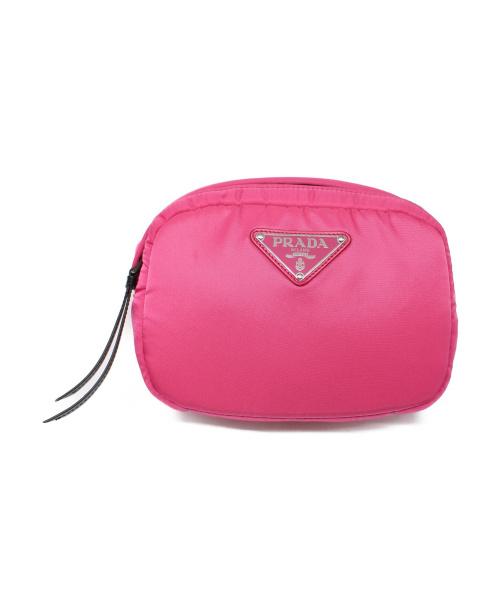 PRADA(プラダ)PRADA (プラダ) ボンディングウエストバッグ ピンク サイズ:下記参照 TESSUTO SOFT FUXIA 215 ロゴプレートの古着・服飾アイテム