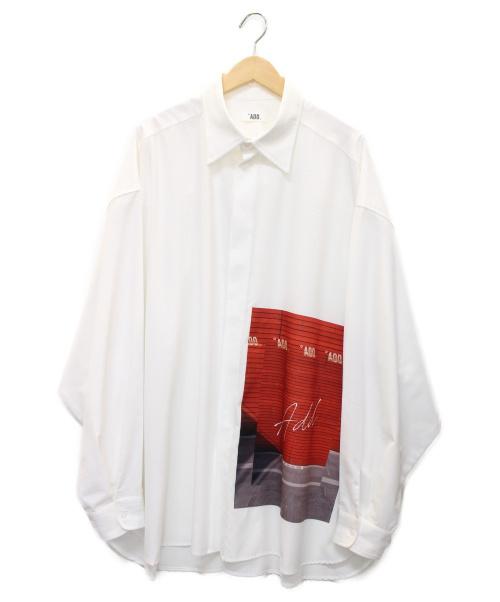 ADD SEOUL(エーディーディーソウル)ADD SEOUL (エーディーディーソウル) オーバーサイズ プリント シャツ ホワイト サイズ:下記参照の古着・服飾アイテム