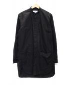 FIT MIHARA YASUHIRO(フィット ミハラヤスヒロ)の古着「ノーカラーロングシャツ」|ブラック