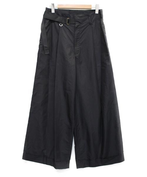 FIT MIHARA YASUHIRO(フィット ミハラヤスヒロ)FIT MIHARA YASUHIRO (フィット ミハラヤスヒロ) 18SS ワイドタックバギーパンツ ブラック サイズ:48 Wide Baggy Pantsの古着・服飾アイテム
