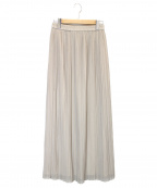 AKTE(アクテ)の古着「シフォンプリーツスカート」|ベージュ