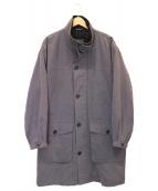 ()の古着「[OLD]パデットスタンドカラーコート」|グレー