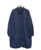 D-VEC(ディーベック)の古着「ウォータープルーフスタンドカラーコート」|ネイビー