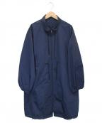D-VEC(ディーベック)の古着「ウォータープルーフスタンドカラーコート」 ネイビー