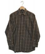 BURBERRY LONDON(バーバリーロンドン)の古着「チェックシャツ」|ブラウン