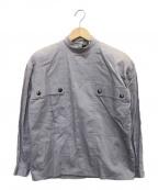 Christian Dior()の古着「ハイネックプルオーバーシャツ」 グレー