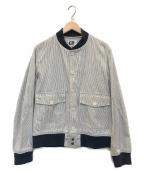 Engineered Garments()の古着「ストライプスタジャン」|グレー×ネイビー