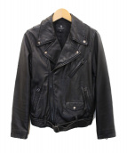 BEAUTY&YOUTH(ビューティアンドユース)の古着「ラムレザーダブルライダースジャケット」|ブラック